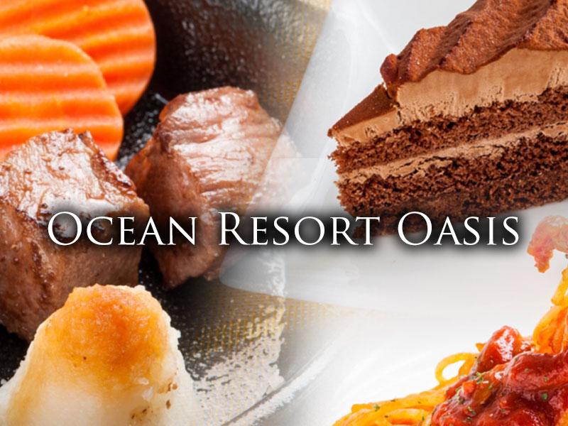 FOOD 全125種類以上のホテルオリジナルFoodMenu定番のライスメニューから本格肉料理に加えて、豊富なサイドメニューも取り揃えております。また、地元湘南産にこだわった「オリジナルしらす丼」をご用意するなど様々なニーズにお答えする事ができるラインナップです。